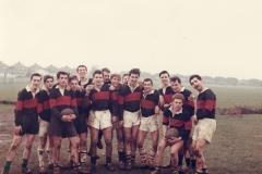015 Kynaston School 1st XV (1962) -- John Dowse(1), David Davies(3), Richard Hempstead(4), Ken Swift(6), P. Artemis(15)
