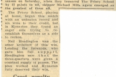 013 Kynaston School Harlequins Rugby XV 1st win of season v Priory School (The Journal Nov 1959)