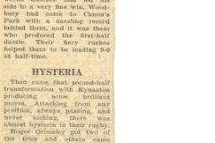 014 Kynaston School Harlequins Rugby XV v. Woodbury Down School Article